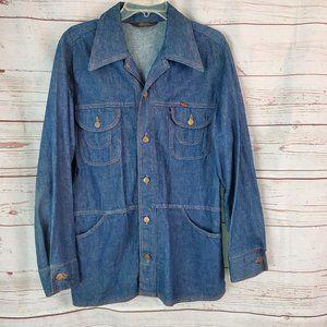 Vintage Wrangler Wrapid Transit Denim Shirt Jacket